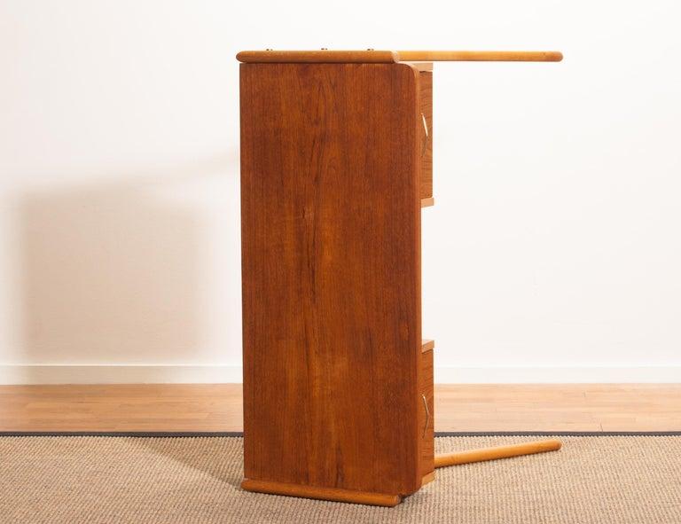 1950s, Teak Swedish Vanity or Ladies Desk For Sale 4