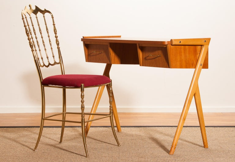 1950s, Teak Swedish Vanity or Ladies Desk 3