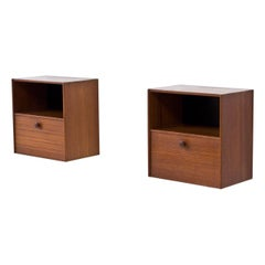 1950s Teak Wall-Mounted Night Stands by Troeds, Sweden