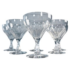 1950s Teardrop Stem Glass Coupes, Set of 6