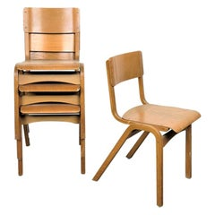 1950s Tecta Beech Dining Chairs in Beechwood, Set of Eight