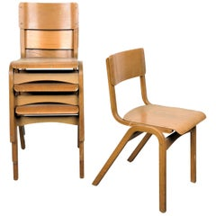 1950s Tecta Beech Dining Chairs in Beechwood, Set of Six
