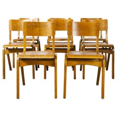 1950s Tecta Stacking Dining Chairs in Beechwood, Set of Eight