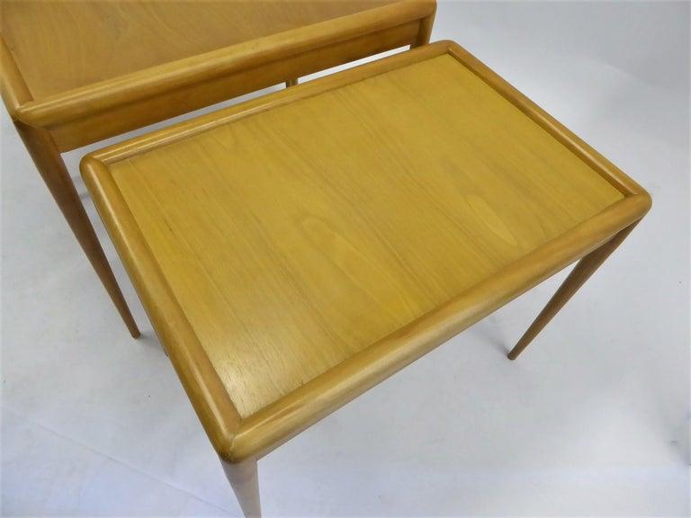1950s Robsjohn-Gibbings Mid Century Modern Nesting Stacking Tables for Widdicomb For Sale 5