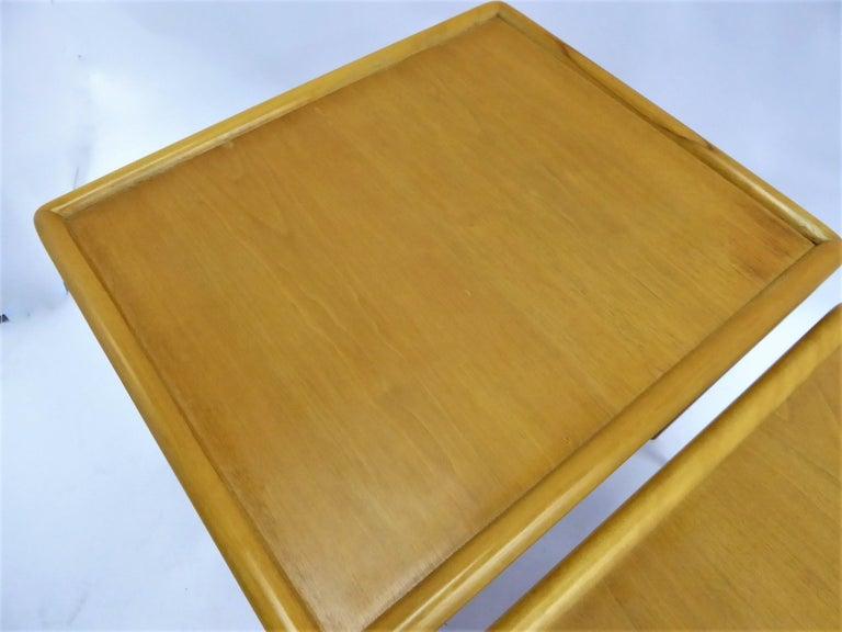1950s Robsjohn-Gibbings Mid Century Modern Nesting Stacking Tables for Widdicomb For Sale 7