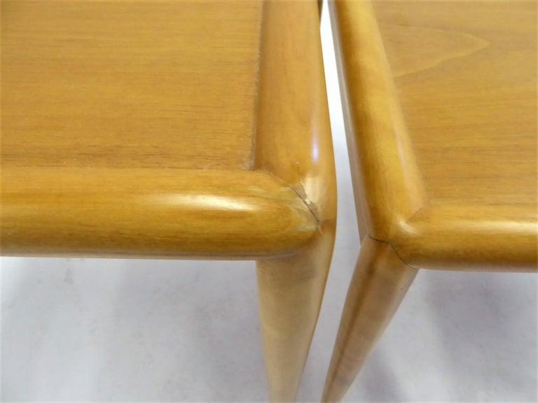 1950s Robsjohn-Gibbings Mid Century Modern Nesting Stacking Tables for Widdicomb For Sale 10