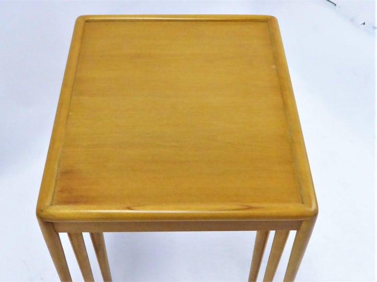 1950s Robsjohn-Gibbings Mid Century Modern Nesting Stacking Tables for Widdicomb For Sale 11