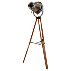 1950s Theatre Stage Light and Tripod