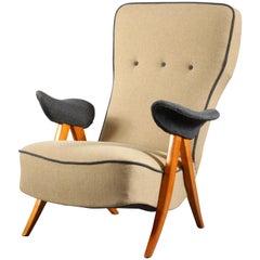 """1950er Jahre Theo Ruth Modell 105 """"Haarnadel"""" Sessel für Artifort"""