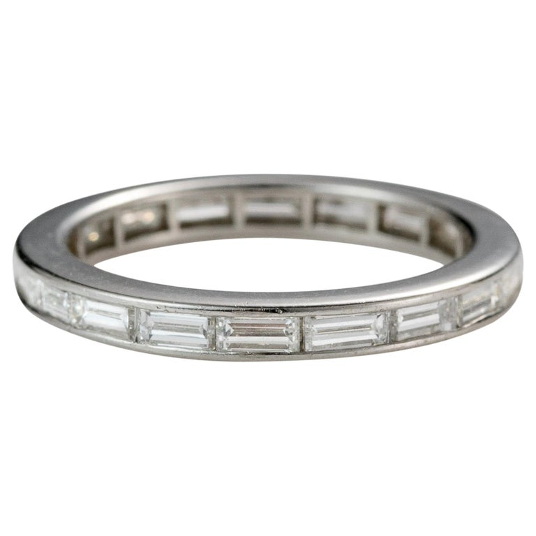 1950s Tiffany & Co. 2 Carat Total Diamond Eternity Band, Platinum For Sale
