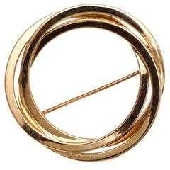 1950s Tiffany & Co. Trinity Pin in 14 Karat Gold