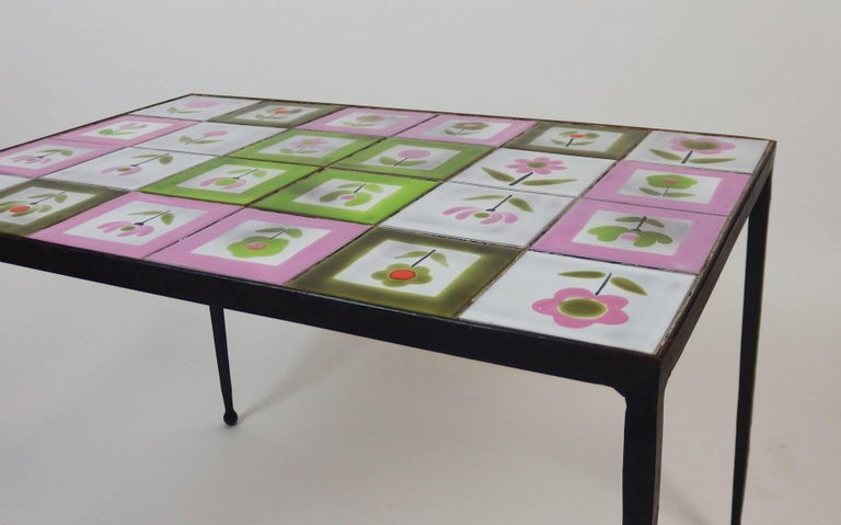 Mid-20th Century 1950s Tiles Coffee Table in the Style of the