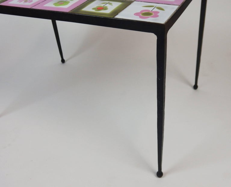 Ceramic 1950s Tiles Coffee Table in the Style of the