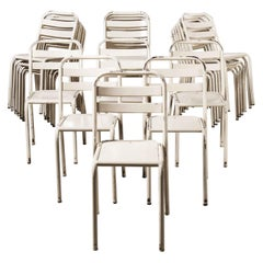 1950's Tolix T2 Original French Dining Chairs, Set of Twenty Four