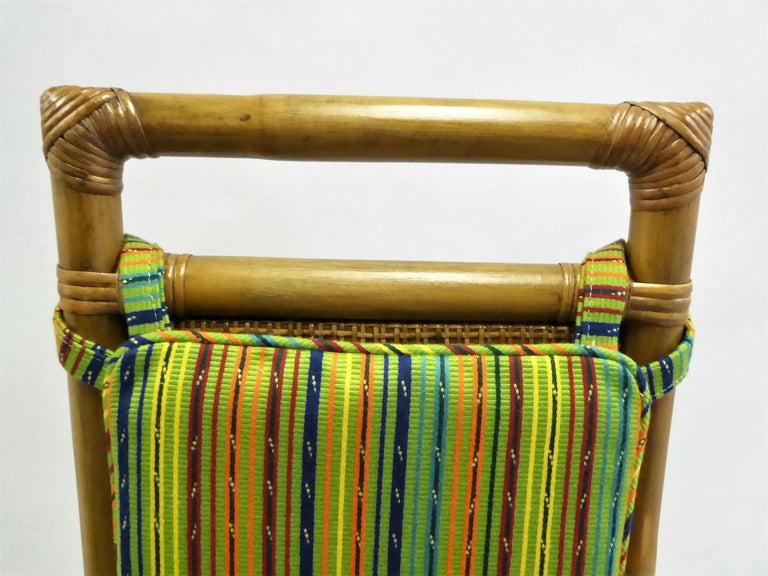 Cane 1950s Henry Olko Mid Century Rattan Throne Chairs for Willow and Reed For Sale