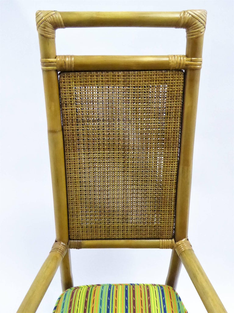 1950s Henry Olko Mid Century Rattan Throne Chairs for Willow and Reed For Sale 1