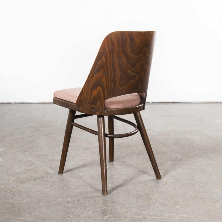 Mid-20th Century 1950s Ton Upholstered Dining Chairs by Radomir Hoffman, Set of Four For Sale