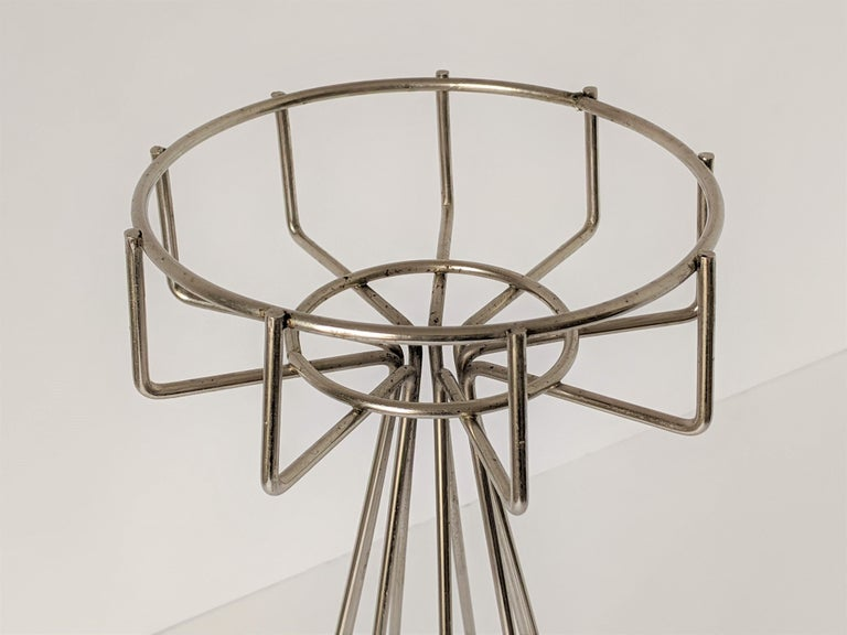 1950s Tony Paul Floor\Standing Wire Ashtray, USA For Sale 1