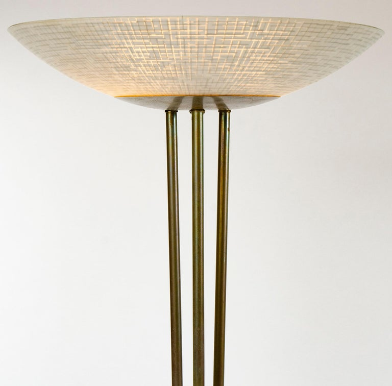 Mid-Century Modern 1950s Torchère Floor Lamp by Gerald Thurston for Lightolier For Sale