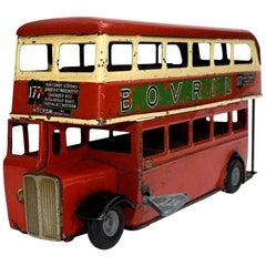 1950s Triang Minic Double Decker London Bus
