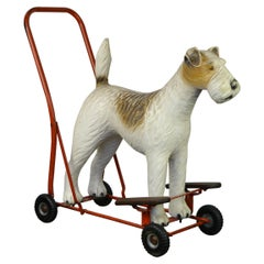 1950s Triang Push Along Toy with Fox Terrier Dog