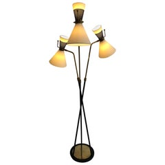 1950s Triple Lighting Floor Lamp by Maison Arlus