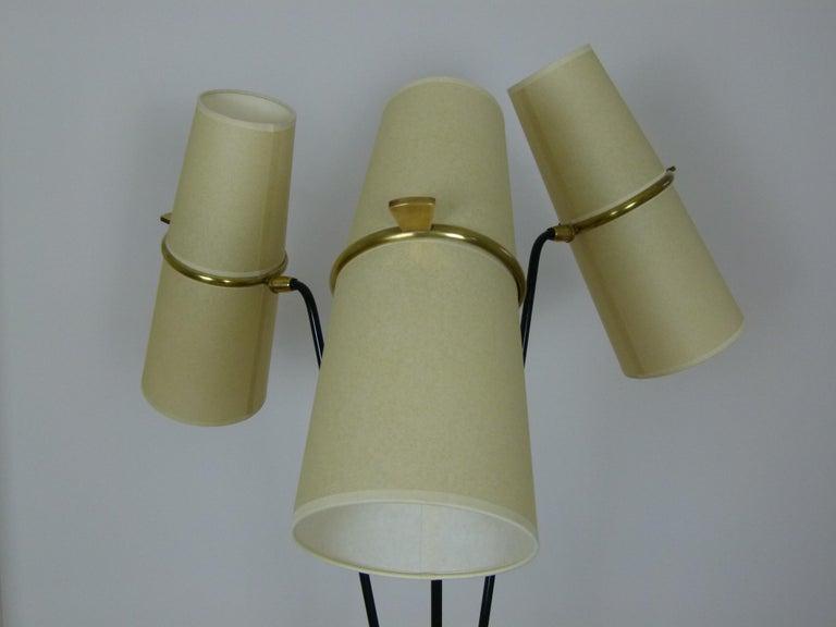 1950s Triple Lighting Floor Lamp by Maison Lunel For Sale 10
