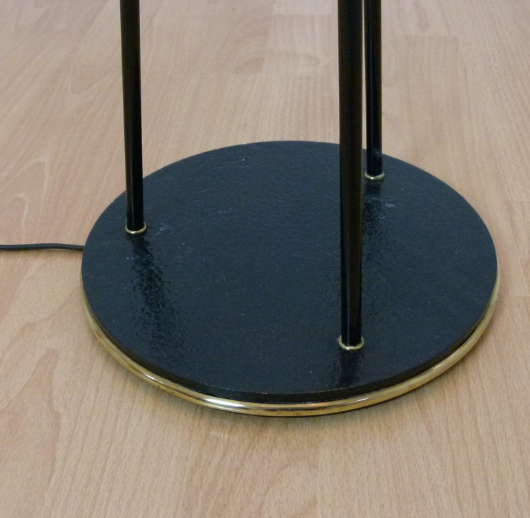 French 1950s Triple Lighting Floor Lamp by Maison Lunel For Sale