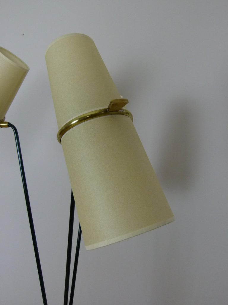 20th Century 1950s Triple Lighting Floor Lamp by Maison Lunel For Sale