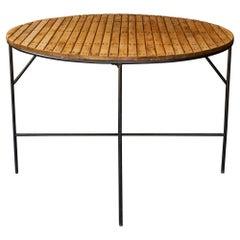 1950s Umanoff Slatted Iron Poolside Dining Table Palm Springs California Modern