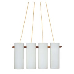 1950s Uno & Osten Kristiansson for Luxus Sweden Mid-Century Modern Ceiling Lamp