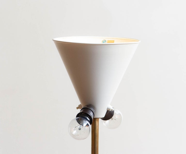 1950s, Up-Light Floor Lamp in Brass and Metal by Fagerhults Belysning, Sweden 4
