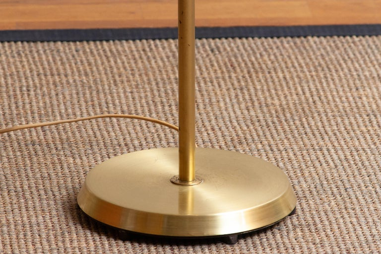 Mid-20th Century 1950s, Up-Light Floor Lamp in Brass and Metal by Fagerhults Belysning, Sweden
