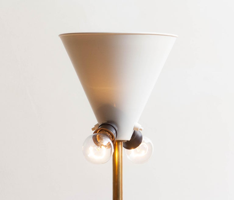 1950s, Up-Light Floor Lamp in Brass and Metal by Fagerhults Belysning, Sweden 1