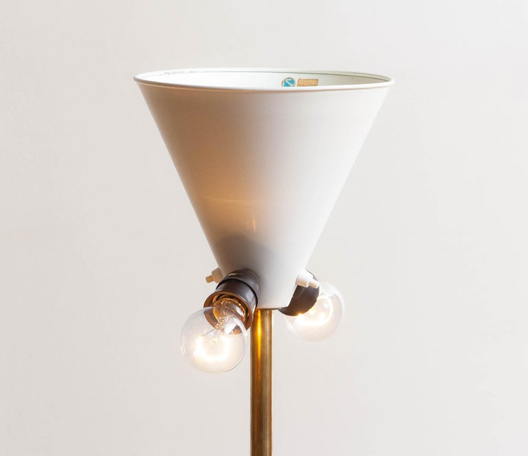 1950s, Up-Light Floor Lamp in Brass and Metal by Fagerhults Belysning, Sweden 2