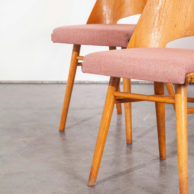 1950s Upholstered Thon Dining Chairs, Radomir Hoffman, Set of Four For Sale 1