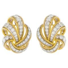 1950s Van Cleef & Arpels Diamond and Gold Earrings