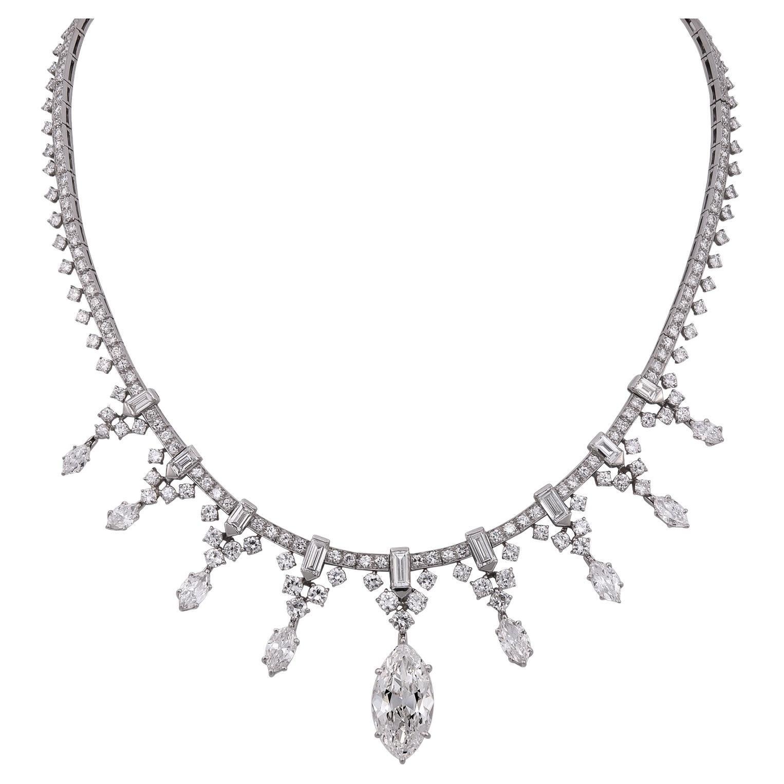 1950s Van Cleef & Arpels Diamond Platinum Necklace