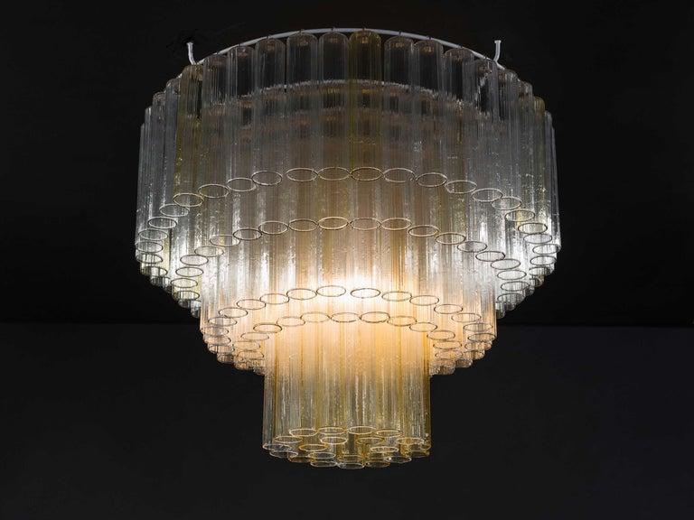 Murano Glass 1950's Venini Chandelier For Sale