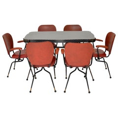 1950s Vintage Atomic Dining Table and Chairs