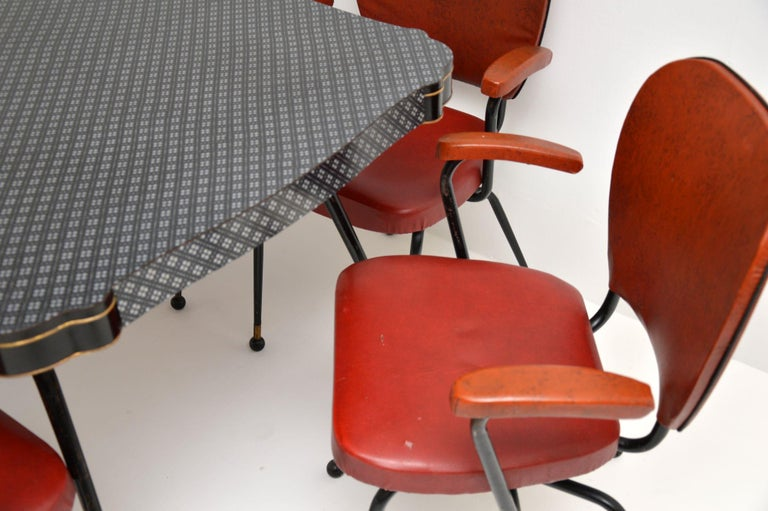 1950s Vintage Atomic Dining Table And Chairs For Sale At 1stdibs
