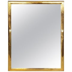 1950s Vintage Brass Rectangle Mirror