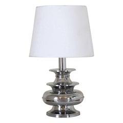 1950s Vintage Chromed Table Lamp