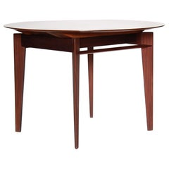1950s Vintage Design Extendible Dining Table in Solid Teak by Vittorio Dassi