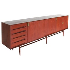1950s Vintage Sideboard Designed by Edmondo Palutari for Vittori Dassi