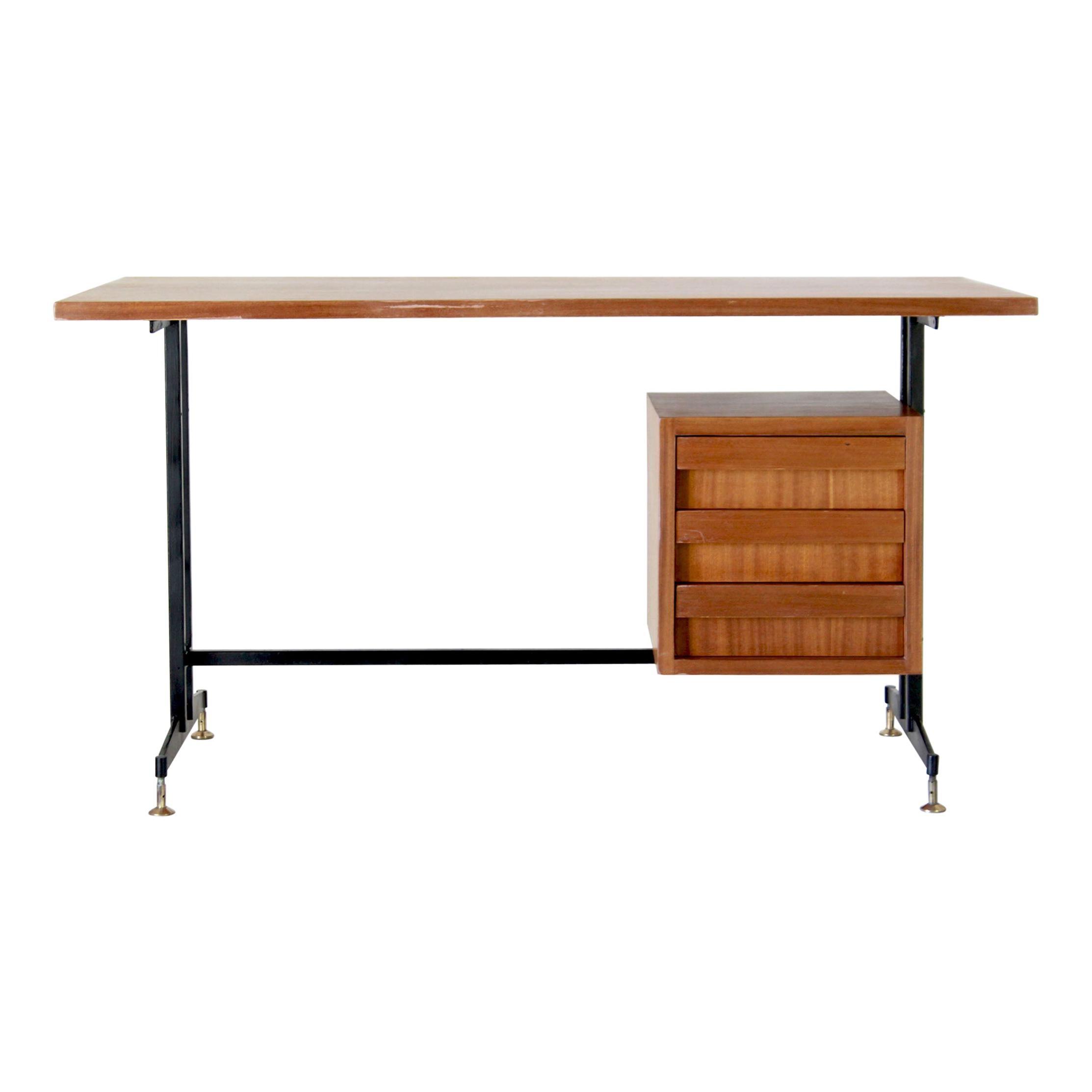 1950s Vintage Desk in Scandinavian Style