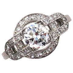 1950s Vintage Diamond Platinum Engagement Ring