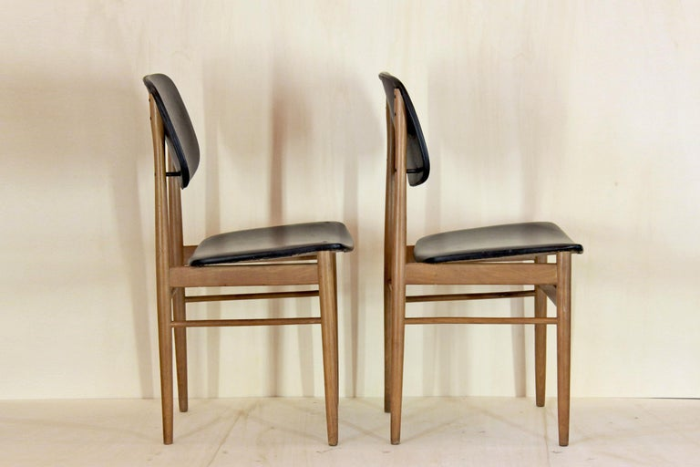 Mid-Century Modern 1950s Vintage Dining Chairs by Anonima Castelli, Set of Two For Sale