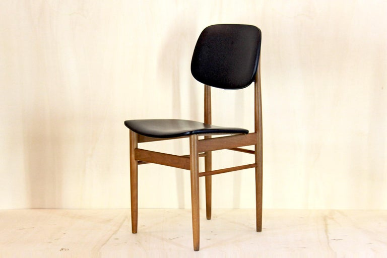 Italian 1950s Vintage Dining Chairs by Anonima Castelli, Set of Two For Sale