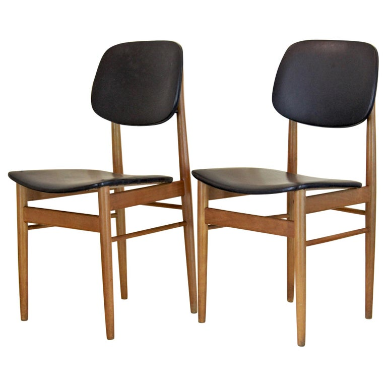 1950s Vintage Dining Chairs by Anonima Castelli, Set of Two For Sale